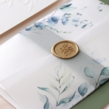 Embossed Ivory Garden Romance with Foil - Wedding Invitations - WP-IC30-BLBF - 184983
