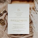 Regal Charm Letterpress - Wedding Invitations - PWI1171020 - 184885