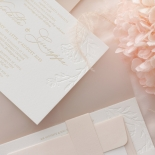 Floral Letterpress with Foil - Wedding Invitations - IC55-GG-LPBD-06 - 184994