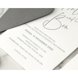 Contemporary Ebony Letterpress - Wedding Invitations - WP-IC55-LP-15 - 184464