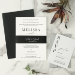 Bold Ebony Letterpress - Wedding Invitations - WP-IC55-LP-04 - 184439