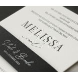 Bold Ebony Letterpress - Wedding Invitations - WP-IC55-LP-04 - 184440
