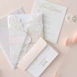 Foil Stamped Floral Laser Cut Elegance - Wedding Invitations - BH1680-F - 184167