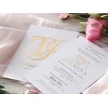 Monogram and Foil Triplex Elegance - Wedding Invitations - WP-TP02-MG-01-7641 - 184104