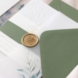 Embossed Ivory Garden Romance with Foil - Wedding Invitations - WP-IC30-BLBF - 184985