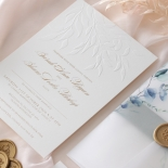 Embossed Ivory Garden Romance with Foil - Wedding Invitations - WP-IC30-BLBF - 184986