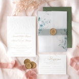 Embossed Ivory Garden Romance with Foil - Wedding Invitations - WP-IC30-BLBF - 184987