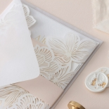 Foil Stamped Floral Laser Cut Elegance - Wedding Invitations - BH1680-F - 184160