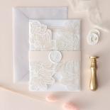 Foil Stamped Floral Laser Cut Elegance - Wedding Invitations - BH1680-F - 184163
