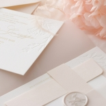 Floral Letterpress with Foil - Wedding Invitations - IC55-GG-LPBD-06 - 184995