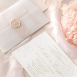 Floral Letterpress with Foil - Wedding Invitations - IC55-GG-LPBD-06 - 184996