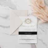 Royal Letter - Wedding Invitations - IC330-GG-BL-02 - 185255