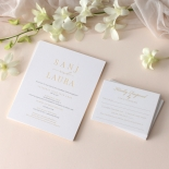 Trendy Foil Stamped Triplex - Wedding Invitations - WP-TP02-MG-02-P - 184189