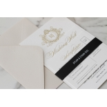 Royal Letter - Wedding Invitations - IC330-GG-BL-02 - 185257