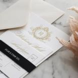 Royal Letter - Wedding Invitations - IC330-GG-BL-02 - 185258