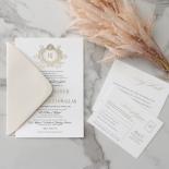 Royal Letter - Wedding Invitations - IC330-GG-BL-02 - 185256
