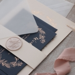 Pre Foiled Blush Floral Wreath - Wedding Invitations - PM-CP02-PFL-B-01 - 184716