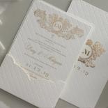 Quilted Half Pocket Royal Elegance - Wedding Invitations - WP309GG - 183824