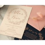 Chic Navy and Rosy Blush Foil - Wedding Invitations - WP-CR07-BR - 184236