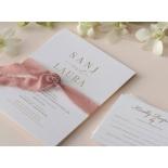 Trendy Foil Stamped Triplex - Wedding Invitations - WP-TP02-MG-02-P - 184187