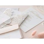 Foil Stamped Floral Laser Cut Elegance - Wedding Invitations - BH1680-F - 184168