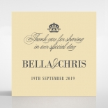 Golden Baroque Gates wedding stationery gift tag