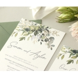 Captivating Greenery - Wedding Invitations - WP-CP02-GG-01 - 184476