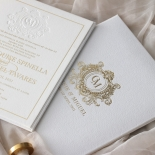 Lush Leather Hardcover - Wedding Invitations - HC-LLWH-01 - 184950