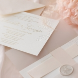 Floral Letterpress with Foil - Wedding Invitations - IC55-GG-LPBD-06 - 184998