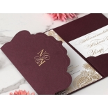 Imperial Burgundy and Gold Pocket - Wedding Invitations - BP-SOLPW-TR30-GG-02 - 184092