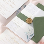 Embossed Ivory Garden Romance with Foil - Wedding Invitations - WP-IC30-BLBF - 184988