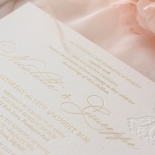 Floral Letterpress with Foil - Wedding Invitations - IC55-GG-LPBD-06 - 184999