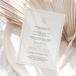 Framed Monogram - Wedding Invitations - IC330-GG-BL-01 - 184825