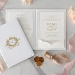 Hardcover Acrylic Pocket - Wedding Invitations - HC-GOLD-CL-1 - 185302