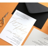 Black and Gold Foiled Triplex - Wedding Invitations - WP-TP01-GG-01 - 184332
