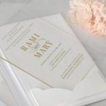 Hardcover Acrylic Pocket - Wedding Invitations - HC-GOLD-CL-1 - 185303