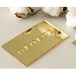 Gold Laser Cut Mirror Place Cards - Place Cards - LC-NAMECARD_MI-G - 184154
