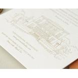 Bellissima Letterpressed Castle - Wedding Invitations - WP-IC55-LP-02 - 184209