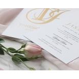 Monogram and Foil Triplex Elegance - Wedding Invitations - WP-TP02-MG-01-7641 - 184105