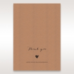 Golden Country Lace With Twine Thank You Cards in Brown DY115084