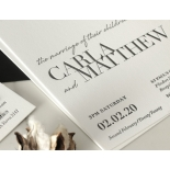 Sophisticated in Grey Letterpress - Wedding Invitations - WP-IC55-LP-01 - 184205