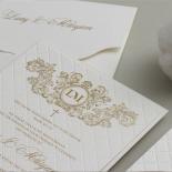Quilted Half Pocket Royal Elegance - Wedding Invitations - WP309GG - 183825