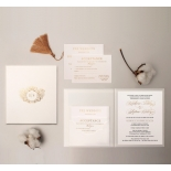 Hardcover Textured White - Wedding Invitations - HC-TW01 - 183911