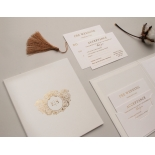Hardcover Textured White - Wedding Invitations - HC-TW01 - 183909