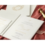 Hardcover Textured White - Wedding Invitations - HC-TW01 - 184348