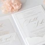 Gold Foil Acrylic Hardcover - Wedding Invitations - HC-GG-CL-1 - 185308