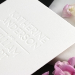 White on White Blind Letterpress - Wedding Invitations - WPBD-01 - 183925
