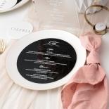 Black Round Acrylic Menu with White Ink - Menu Cards - MD17300-BW - 184062