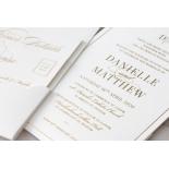 Cottony Elegance Half Pocket - Wedding Invitations - WP-SOLPW-TR30-GG - 184067