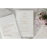 Cottony Elegance Half Pocket - Wedding Invitations - WP-SOLPW-TR30-GG - 184066